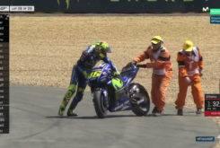 Caida Valentino Rossi Le Mans 201721