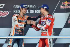 Dani Pedrosa Jorge Lorenzo MotoGP Jerez 2017 podio