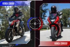 Face to face Honda CB650F vs Honda CBR650F MBK30