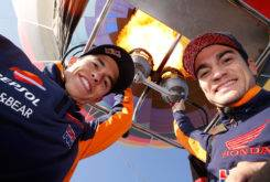 Marc Marquez Dani Pedrosa globo aerostatico 01