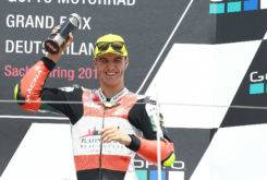 Marcos Ramirez podio Sachsenring Moto3 2017