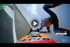 Caida Marc Marquez MotoGP Silverstone 2017