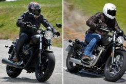 Triumph Bonneville Bobber vs Moto Guzzi V9 Bobber