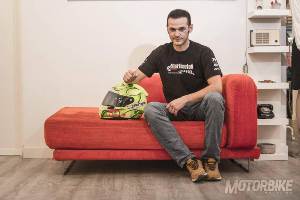 Víctor López, en su visita a MOTORBIKE MAGAZINE. (Foto: Juan Carlos González)