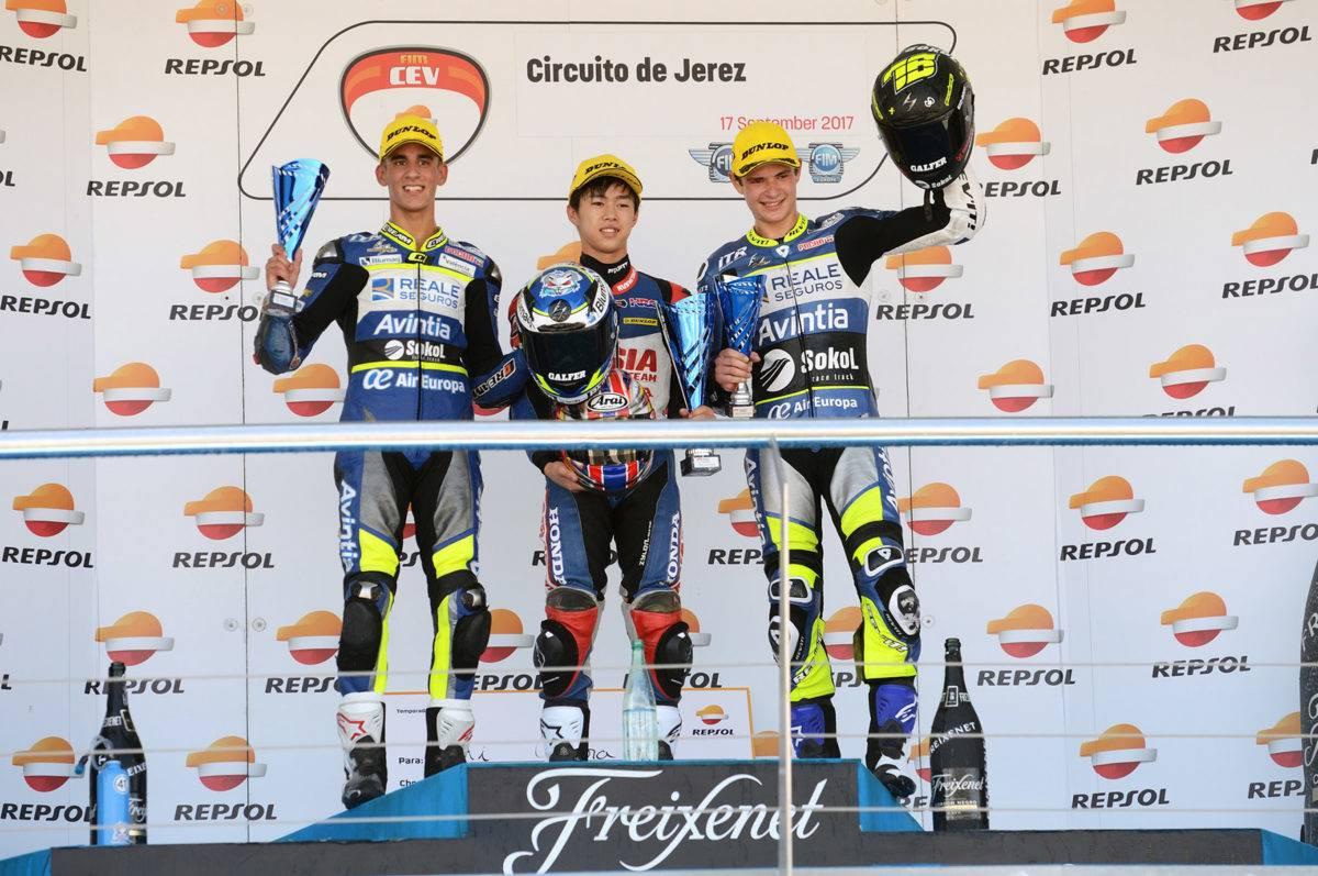 Moto3 Jerez_FIM CEV 2017 podio race 2