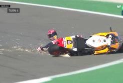 Caida Marc Marquez Q2 GP Valencia 2017 5