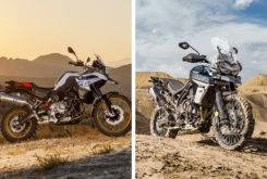 bmw f 850 gs triumph tiger 800 xca