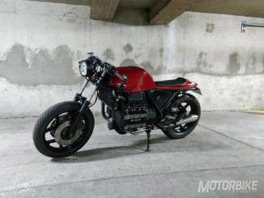 Resultado final de la BMW K75 Cafe Racer