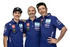 Maverick Viñales Massimo Merigalli Valentino Rossi Yamaha MotoGP 2018