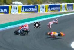 Caida Pedrosa Lorenzo Dovizioso MotoGP Jerez 2018 01