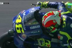 Casco Valentino Rossi GP Mugello 2018 Acción 2