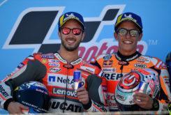 MBK Andrea Dovizioso Marc Marquez podio Aragon 2018