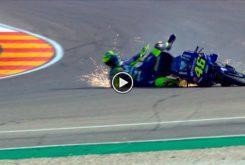 Valentino Rossi MotoGP Aragon 2018 caida 01