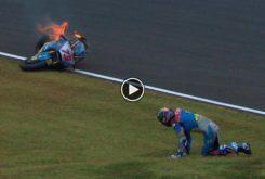 Alex Marquez caida Moto2 Japon 2018 01