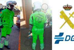 Trajes antiatropello guardia civil fluorescente DGT