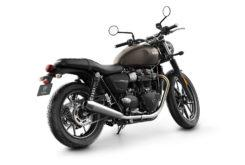 Triumph Street Twin 2019 studio Iron Stone rear