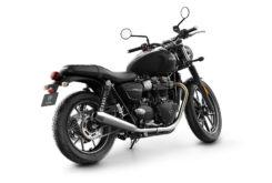 Triumph Street Twin 2019 studio Jet Black rear