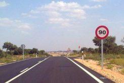 señal 90 kmh