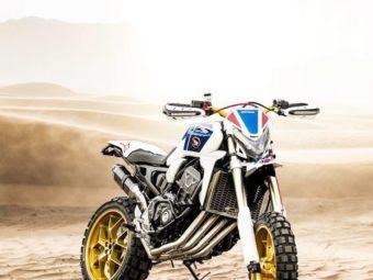 Honda CB1000R CRF450 Rally Africa Twin Brivemo concept