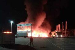 Incendio MotoE fuego
