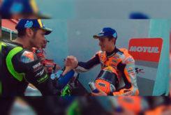 Marc Marquez mano Valentino Rossi MotoGP Argentina 2019