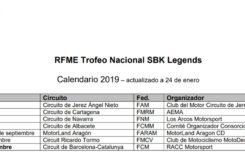RFME SBK Legends Superbike calendari