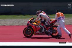 Caida Marc Marquez MotoGP Austin 20191