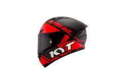 KYT NX Race lado Race D carbon red