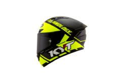 KYT NX Race lado Race D carbon yellow
