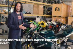 Keanu Reeves video Ducati 998 Matrix