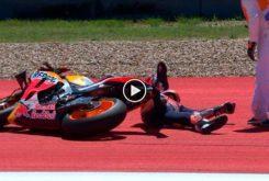 Marc Marquez caida MotoGP Austin 2019
