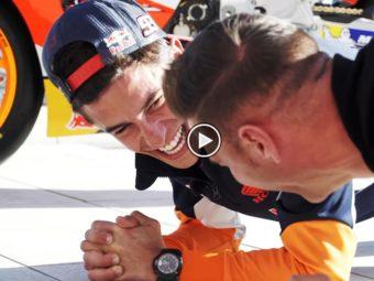 Video Marc Marquez Joaquin plankas challenge