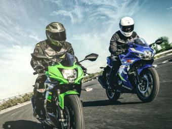 Kawasaki Ninja 125 vs Suzuki GSX R125 1876 apert3