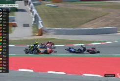 MotoGP 2018 Montmelo Caida Lorenzo Rossi Maverick dovizioso 01