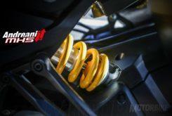 Suspensiones moto horquilla amortiguador AndreaniMHS precarga muelles hidráulico dura blanda