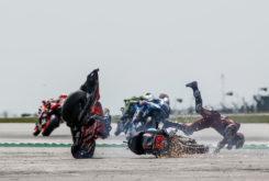 Andrea Dovizioso caida MotoGP Silverstone 2019