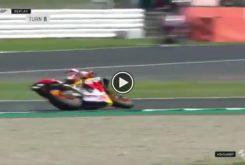 Marc Marquez caida MotoGP Silverstone 2019