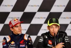Marc Marquez Valentino Rossi rueda prensa MotoGP Austria 2019 (2)