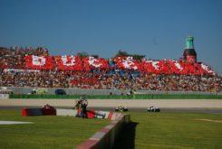 Tribuna grada ducati GP Cheste MotoGP