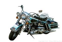 harley davidson flh 1200 electra glide 1976 Elvis Presley front