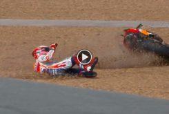 Caida Marc Marquez Q2 MotoGP Tailandia 2019