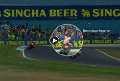 Dominique Aegerter salvada Moto2 Australia 2019