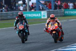 Fabio Quartararo Marc Marquez MotoGP Tailandia 2019