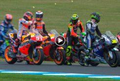 Marc Marquez Jorge Lorenzo encontronazo MotoGP Australia 2019