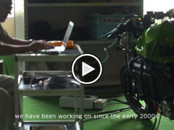 Kawasaki moto deportiva electrica