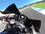 Freno trasero moto circuito Loris Baz