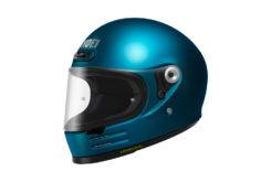 Shoei glamster casco moto azul