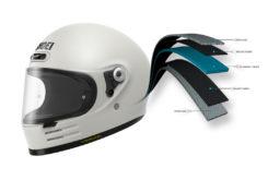 Shoei glamster casco moto capas