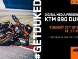 Invitacion KTM 890 DUKE R 2020 Presentacion
