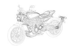 Harley Davidson flat tracker boceto